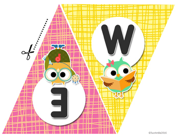 Welcome Banner, Owl theme