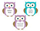 Owl themed brain breaks (editable)