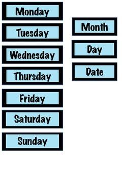 Owl-themed calendar set (with editable boxes)