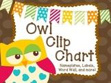 Owl themed clip chart- Behavior managment System