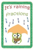 Owl-themed fraction unit: It's raining fractions (25 pages)