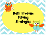 Math Problem Solving Strategies Posters: Owl Edition!