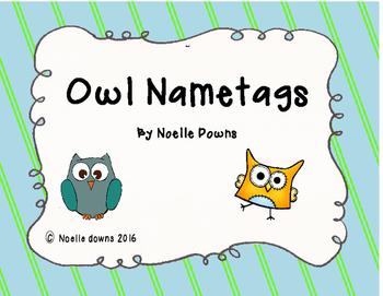 Owl themed nametags