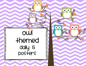 Owl themedDaily 5 Posters