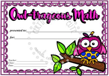 Owl-trageous Math!