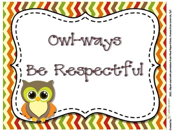 Owl Signs  Forest Series - Owl-ways Inspirational Classroom Rules Fall