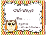 Owl Signs  Forest Series - Owl-ways Inspirational Classroo