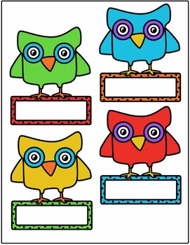 Owl with Frame Clipart