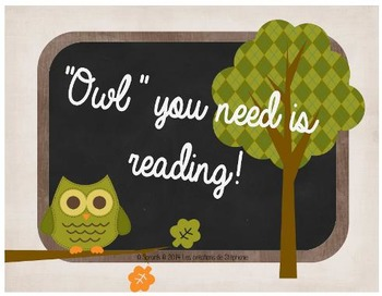 """""""Owl"""" you need is reading!"""