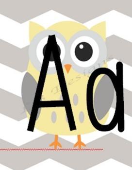 Owlphabet (Owl themed Alphabet)
