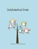 Owlphabetical Order
