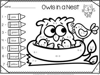 fall owl activities for kindergarten owls worksheets