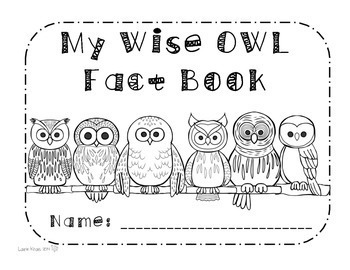 Owls - Research Activities and Graphic Organizers