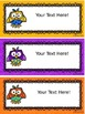 Owls Classroom Theme - Editable Schedule Cards