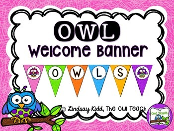 Owls Classroom Theme - Welcome Banner