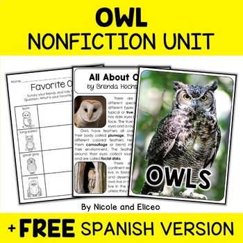 Nonfiction Unit - Owl Activities