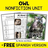 Owl Activities Nonfiction Unit