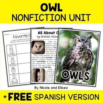 Nonfiction Owl Unit Activities
