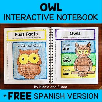 Owl Activities Interactive Notebook