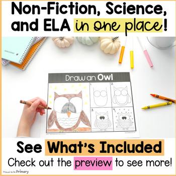 Owl Bird Science & Non-Fiction ELA Unit