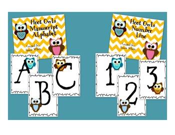 Owls Alphabet and Number Line