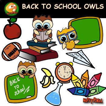 Owls - Back To School Clip Art