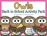 Owls Back to School Activity Packs