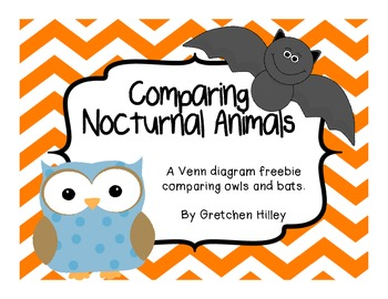 Owls Bat Venn Diagram Comparison Freebie