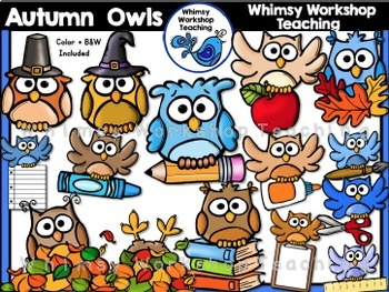 Owls Bundle 2 (Summer, Autumn/Back To School, Winter)