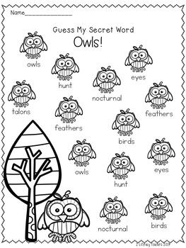 Owls! CCSS Aligned Leveled Reading Passages and Activities
