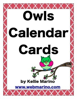 Owls Calendar Cards