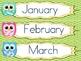 Owls Calendar Time