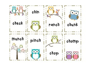Owls - ch, wh, nk Blends and Other Literacy Activities