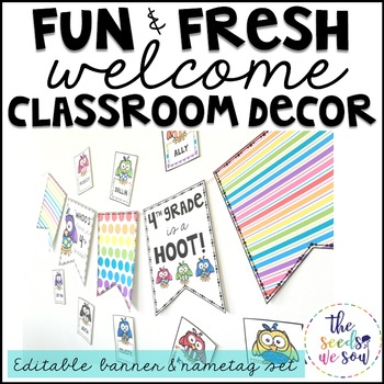 Owls Classroom Decor {Nametags and Banner}