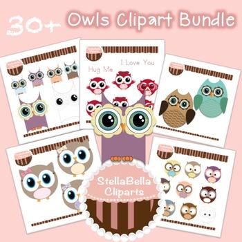 Owls Clip Art Bundle