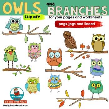 Owls - Clip Art - ChrisQclipart