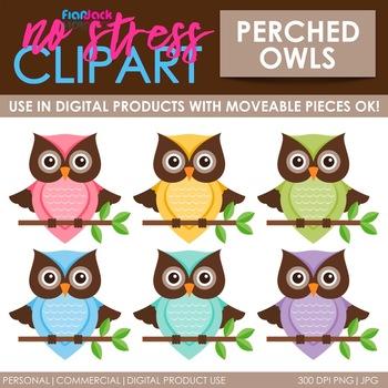 Owls Clip Art (Digital Use Ok!)
