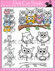Owls Clip Art Value Pack - Personal & Commercial Use