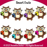 Owls Clip Art by Jeanette Baker
