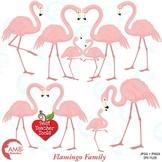 Flamingo clipart, Pink flamingo clipart, {Best Teacher Tools} AMB-1037