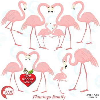 Flamingo clipart, Pink flamingo clipart, {Best Teacher Tools} AMB-1037
