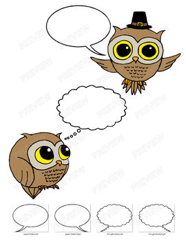 Owls Clipart - Everyday & Holidays (Brown Pack)