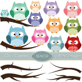 Owls Clipart Branches Clipart Digital Birds Trees Scrapboo