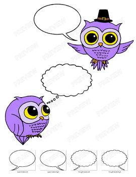 Owls Clipart - Everyday & Holidays (Purple Pack)