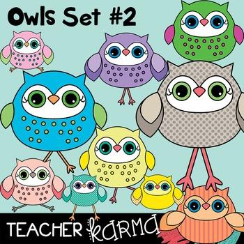 Owls Clipart Set #2 (Check out the BUNDLE below)