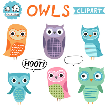 Clip Art: Owls for Personal and Commercial Use