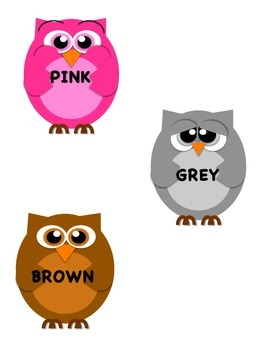 Owls Color Poster & Die Cuts
