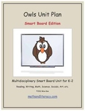 """""""Owls"""" Common Core Aligned Math and Literacy Unit - SMARTBOARD EDITION"""