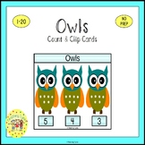 Owls Count and Clip Task Cards