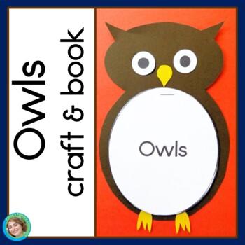 Owls Craft and Book - no prep!